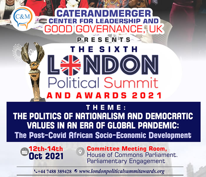 The Sixth London Political Summit and Awards 2021